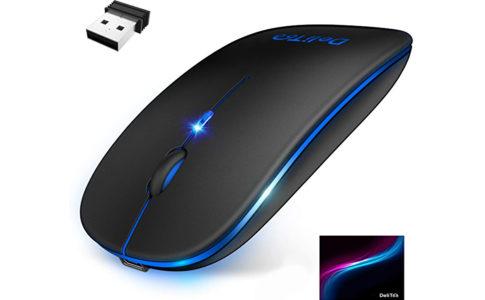 【口コミ】DeliToo ワイヤレスマウス【持ち運びに便利】