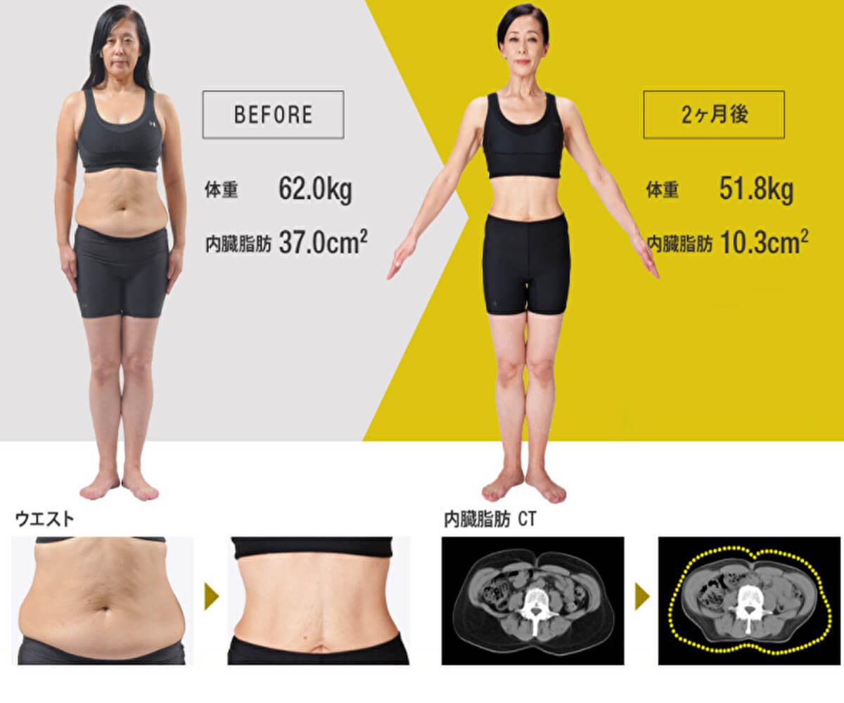 ライザップで痩せた50代女性