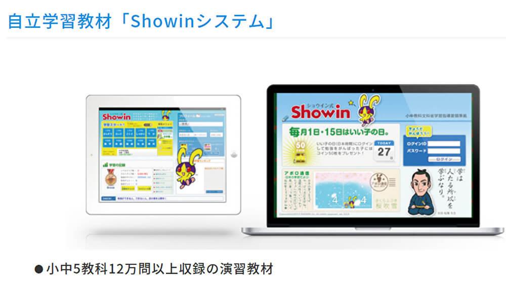 自立学習教材「Showinシステム」ネット松陰塾
